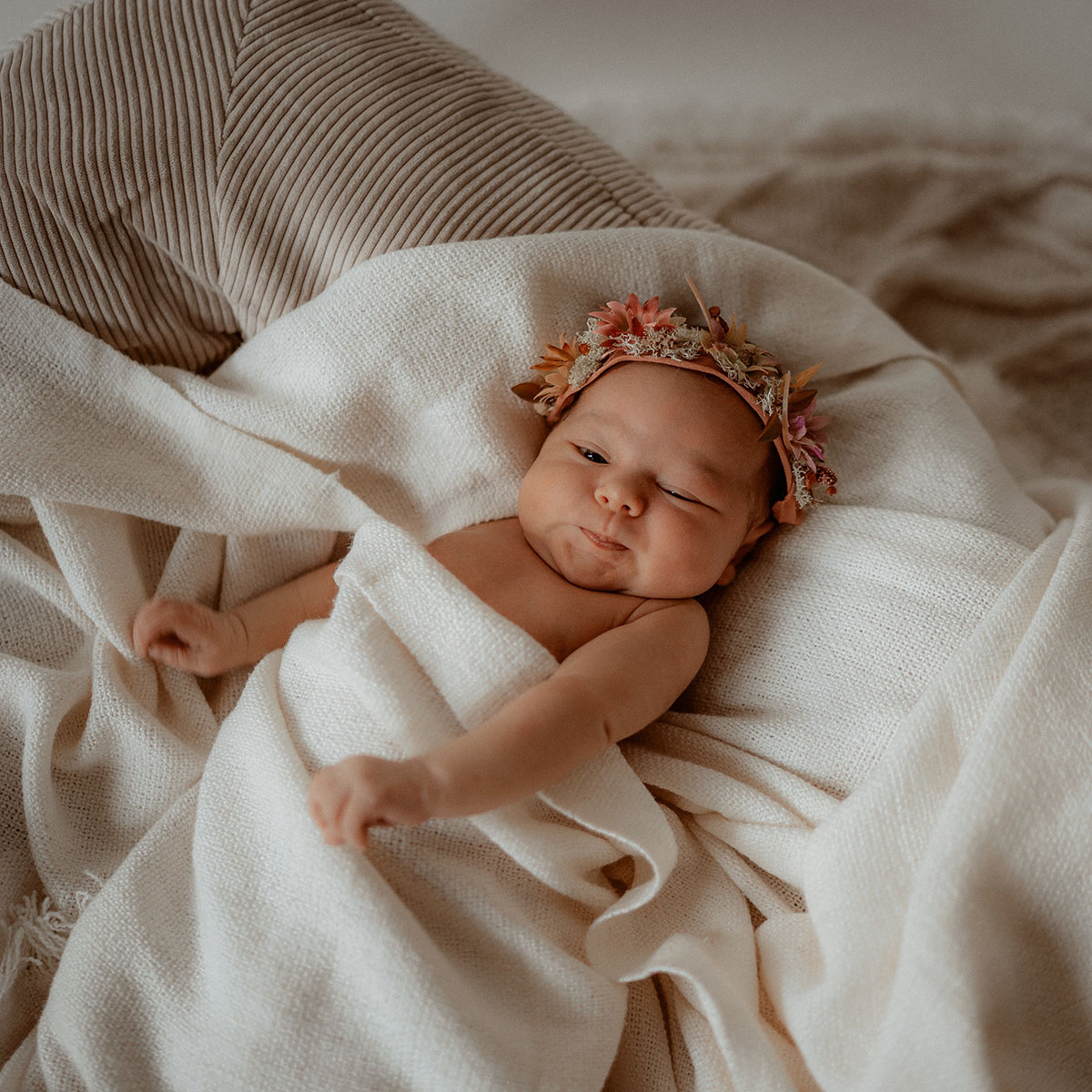 Fotoshooting Neugeborenes Baby Studio Linz